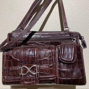 Brighton Vintage Leather Crossbody Purse/Shoulder